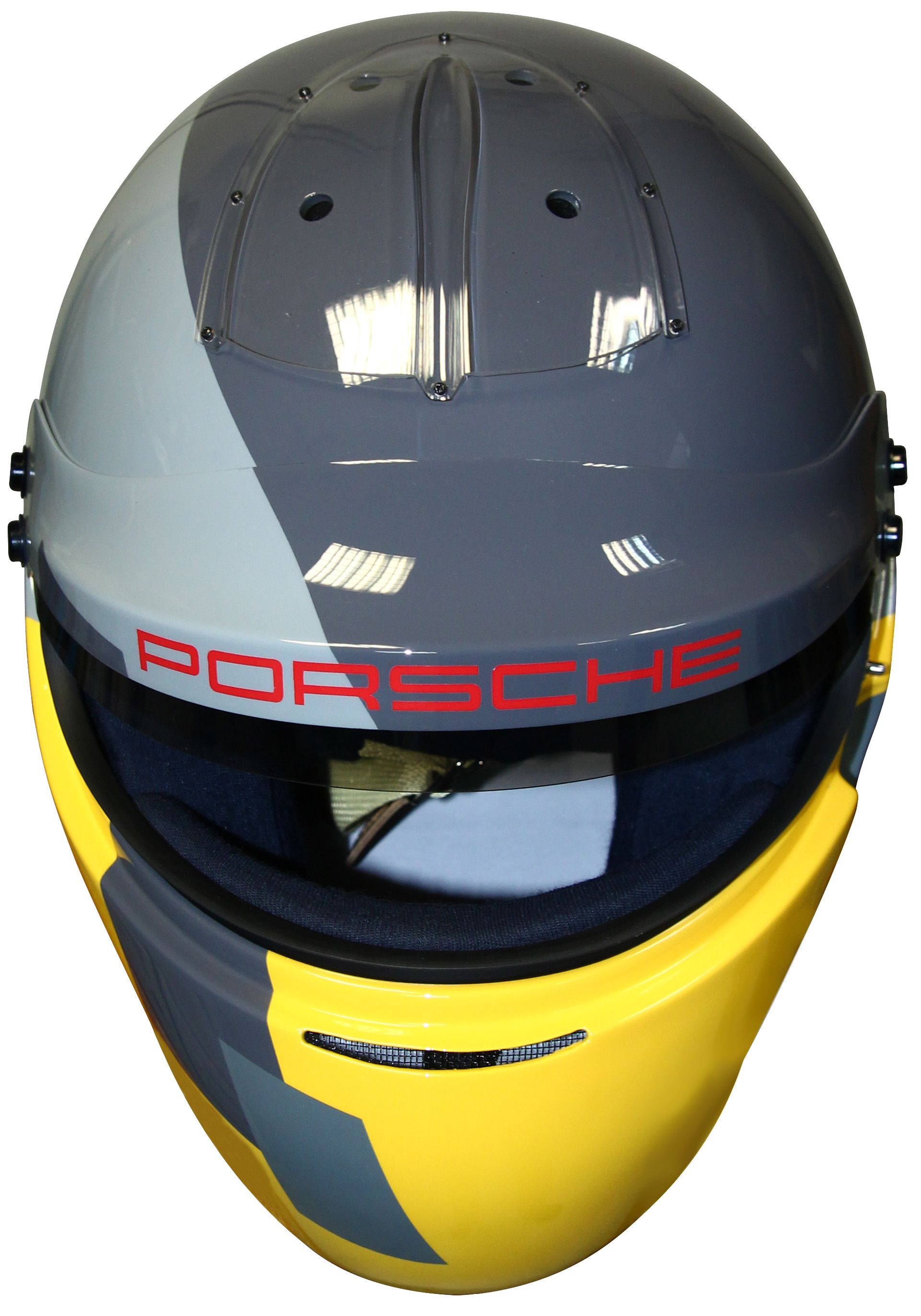 Colored Porsche GT4 Clubsport helmet