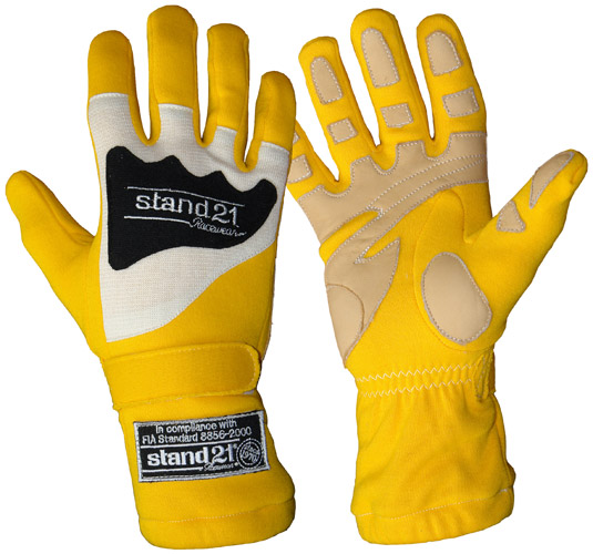 Stock yellow Daytona gloves